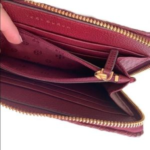 Tory Burch Bags - Tory Burch Taylor Zip Continental Wallet Red